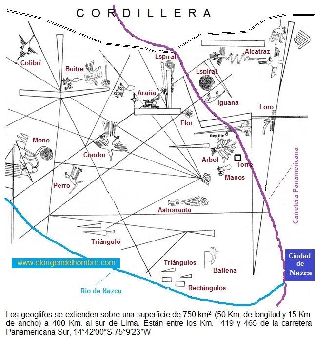 mapa general figuras de nazca